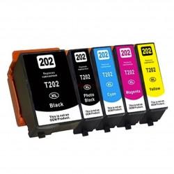 Epson 202XL - Pack de 5 Tinteiros Genéricos