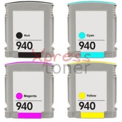 HP nº940XL - Pack de 4 Tinteiros Genéricos