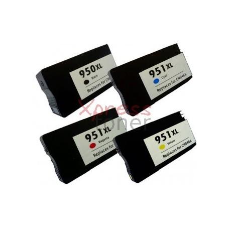 HP nº950+nº951 - Pack de 4 Tinteiros Genéricos