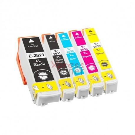 Epson T263x - Pack de 5 Tinteiros Genéricos
