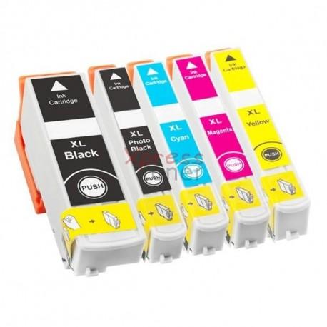 Epson T3357 - Pack de 5 Tinteiros Genéricos